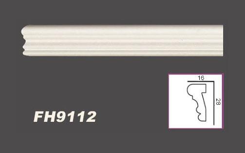 2 Meter PU Flachprofil Leiste Wand Dekor stoßfest Hexim 28x16mm | FH9112 - Vorschau 2