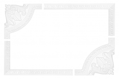 Wand und Deckenumrandung Fries Spiegel Bilderrahmen Stuck Dekor stoßfest AC225