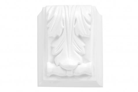 1 Ornament Dekorelement PU Stuckdekor Innen Wanddekor stoßfest 95x80mm, A613