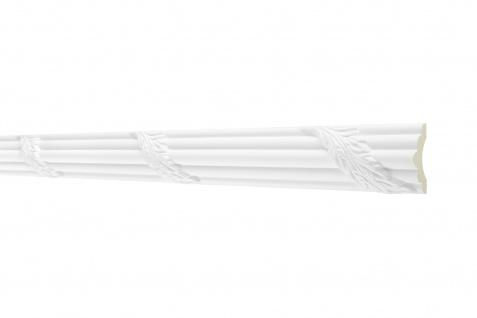 2M Flachprofil 46x20mm - Stuckleiste aus PU gemustert, stoßfest - Perfect AC290