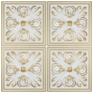 1 qm Deckenplatten Polystyrolplatten Stuck Decke Dekor Platten 50x50cm Nr.05 - Vorschau 5