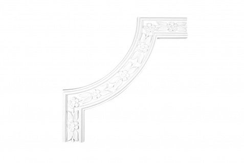 1 Segment Ecke passend zur Leiste CR3053 Segmentbogen Stuck PU stoßfest