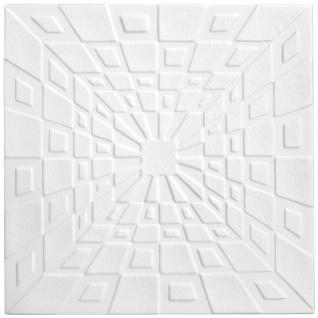 1 qm Deckenplatten Polystyrolplatten Stuck Decke Dekor Platten 50x50cm Nr.26