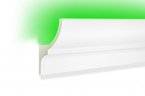 2 Meter LED Profile indirekte Beleuchtung Leiste lichtundurchlässig 105x55 KF712