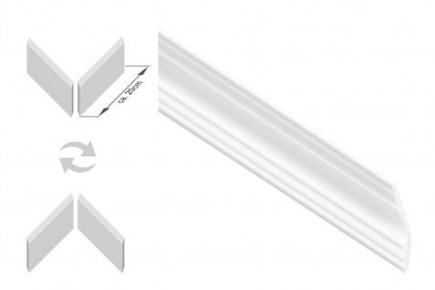 Stuckleisten inkl. Eckprofile XPS Dekor stabil 50x50 Marbet Sparpaket E-43-NK