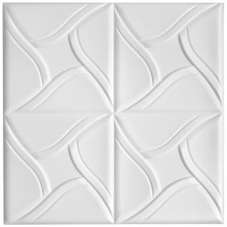 1 qm Deckenplatten Polystyrolplatten Stuck Decke Dekor Platten 50x50cm Nr.80
