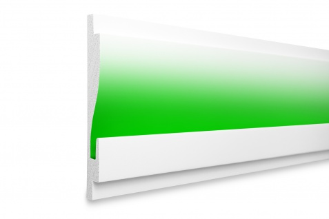 1, 15 Meter LED Profil XPS Stuck Trockenbau Tesori 180x25mm KD404