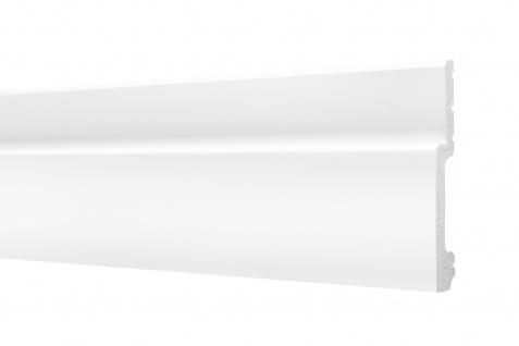 2 Meter Sockelleisten HXPS Eckleisten Ecopolimer stoßfest Cosca 20x110mm CP10