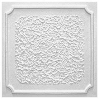1 qm Deckenplatten Polystyrolplatten Stuck Decke Dekor Platten 50x50cm Antik