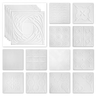 Deckenplatten Styropor XPS - weiß viele Motive 50x50cm - Sparpaket Nr.71 bis Nr.116
