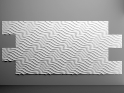 Sparpaket 3D Paneele Wandverkleidung Wandplatten formfest Marbet 96x48cm PD-3 - Vorschau 5