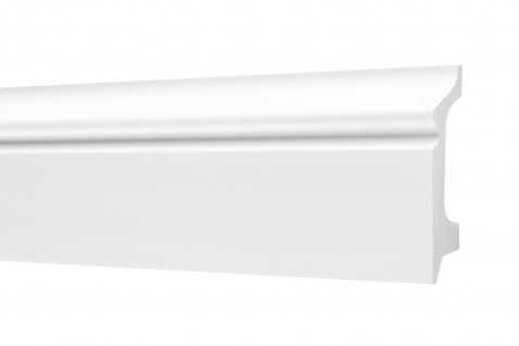 2 Meter Sockelleisten HXPS Eckleisten Ecopolimer stoßfest hart Cosca 21x78mm CP1