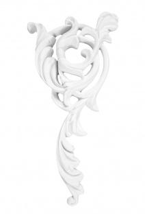 1 Ornament Dekorelement PU Stuckdekor Innen Wanddekor stoßfest 200x105mm, A851L/R