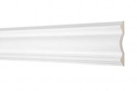 2 Meter Flachleiste 102x20mm - Stuckleiste aus PU glatt, stoßfest - Perfect AD354