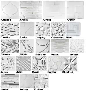 3D Paneele, 100% Naturprodukt - stabil & dämmend - alle Modelle / Sparpakete