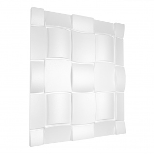 3D Wandpaneele Styroporplatten Wandverkleidung Wanddekor 60x60cm Rubik Sparpaket