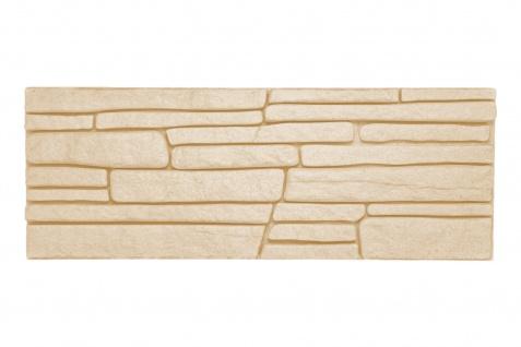 Dekorsteine Steinoptik Wandplatten Styroporplatten Verblender 48x18cm Rock beige