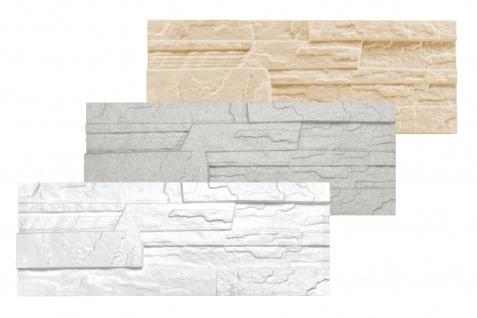 1, 04 qm Dekorsteine Steinoptik Wandplatten Styroporplatten Verblender 48x18cm Stone
