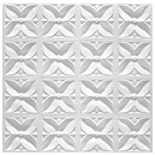 1 qm Deckenplatten Polystyrolplatten Stuck Decke Dekor Platten 50x50cm Margareta