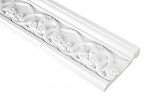 2 Meter | PU Flachleiste Profil Innen Dekor stoßfest | Hexim | 102x27mm | FH9413