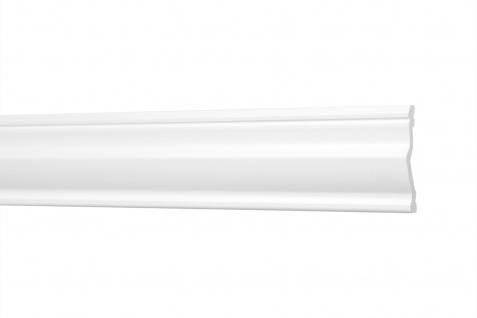 2 Meter Flachleisten HXPS Eckleisten Ecopolimer stoßfest Cosca 48x10mm CM23