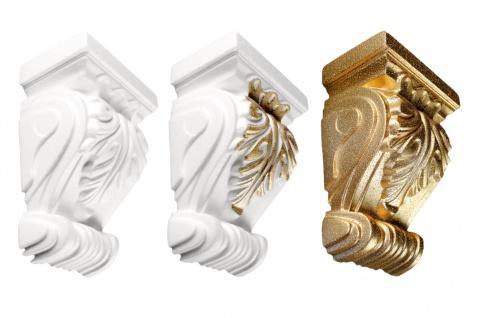 1 Konsole Stuck Dekorativ EPS Wand Dekor Auswahl Ablage 11, 5x16, 5cm K-02