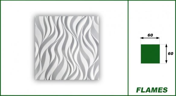 3D Wandpaneele Styroporplatten Wandverkleidung Wanddekor Verblender Flames Sparpaket - Vorschau 2