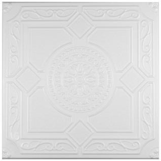 1 qm Deckenplatten Polystyrolplatten Stuck Decke Dekor Platten 50x50cm Nr.32