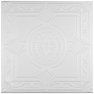 1 qm Deckenplatten Styroporplatten Stuck Decke Dekor Platten 50x50cm Nr.32