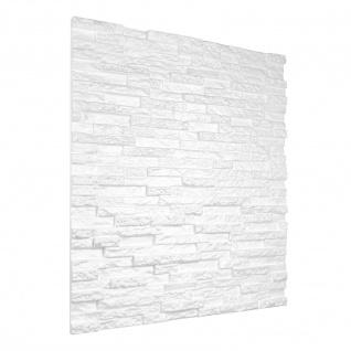 3D Wandpaneele Styroporplatten Wanddekor Ziegelsteine 60x60cm Kamien Sparpaket
