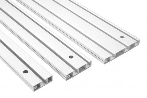 2 Meter PVC Vorhangschiene Schiebevorhang Gardinenschiene weiß Hexim OM