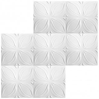 1 qm Deckenplatten Polystyrolplatten Stuck Decke Dekor Platten 50x50cm Nr.113 - Vorschau 3