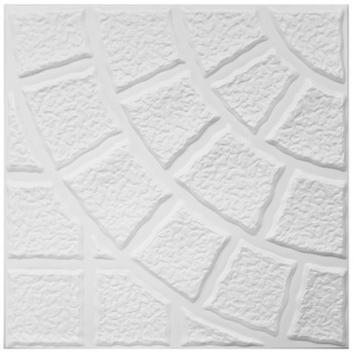 1 qm Deckenplatten Styroporplatten Stuck Decke Dekor Platten 50x50cm Nr.115