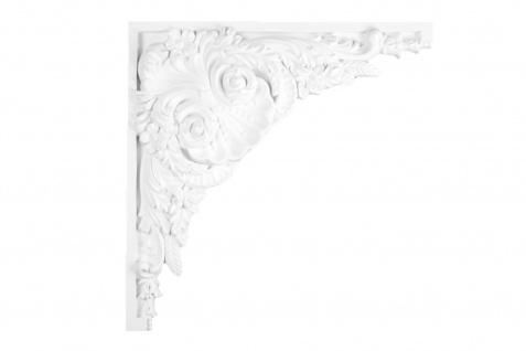 1 Ornament Dekorelement PU Stuckdekor Innen Wanddekor stoßfest 460x460mm, W865