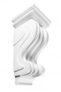 1 Konsole Stuck Dekorativ EPS Wand Dekor Ablage weiß 12x23cm K-03