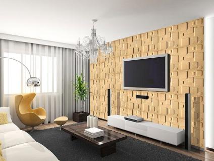 3D Wandpaneele Styroporplatten Wandverkleidung Wanddekor Verblender Cube Sparpaket - Vorschau 4