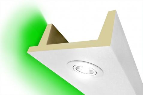 2 Meter LED Kasten Profil PU Stuck Beleuchtung stoßfest Hexim 80x200mm LED-11
