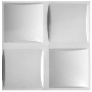 3D Paneele PS Platten Wand Decke Verkleidung Wandplatten Sparpaket 50x50cm Hexim Pillow