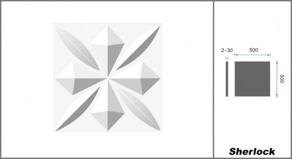 1 qm 3D Platten Natur Stuck ökologisch Paneele 3D Elite Panels 50x50cm Sherlock - Vorschau 2