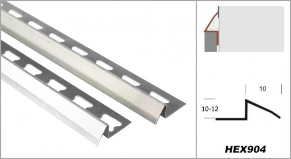 2 Meter   Übergangsprofil   V2A Edelstahl   rostfrei   diverse Größen   HEX904