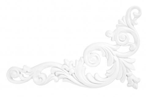 1 Ornament Dekorelement PU Stuckdekor Innen Wanddekor stoßfest 260x126mm, A611L/R