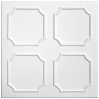 1 qm Deckenplatten Polystyrolplatten Stuck Decke Dekor Platten 50x50cm Nr.01