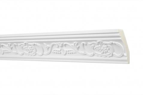2 Meter Zierprofil 70x40mm - Stuckleiste aus PU gemustert, stoßfest - Perfect AA009