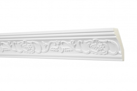 2M Zierprofil 70x40mm - Stuckleiste aus PU gemustert, stoßfest - Perfect AA009