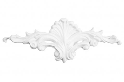 1 Ornament Dekorelement PU Stuckdekor Innen Wanddekor stoßfest 200x80mm, W815