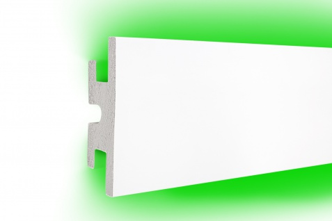 1, 15 Meter LED Profil XPS Stuck Trockenbau Tesori 120x40mm KD302