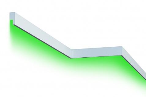 Fassadenleiste LED indirekte Beleuchtung stoßfest 30x65mm MC301