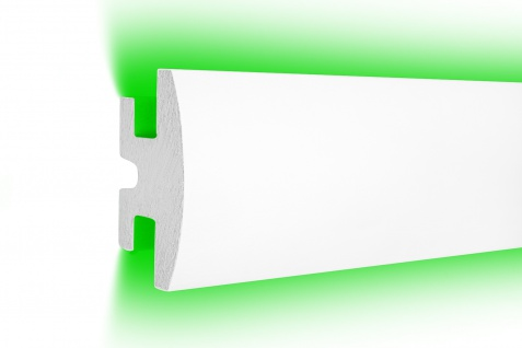 1, 15 Meter LED Profil XPS Stuck Trockenbau Tesori 90x50mm KD305