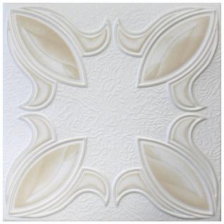 1 qm Deckenplatten Polystyrolplatten Stuck Decke Dekor Platten 50x50cm Nr.57