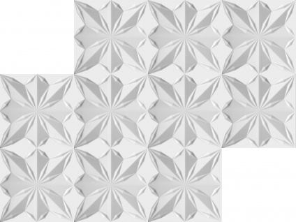 3D Wandpaneele Styroporplatten Wandverkleidung Wanddekor Paneele Star 1 qm - Vorschau 3